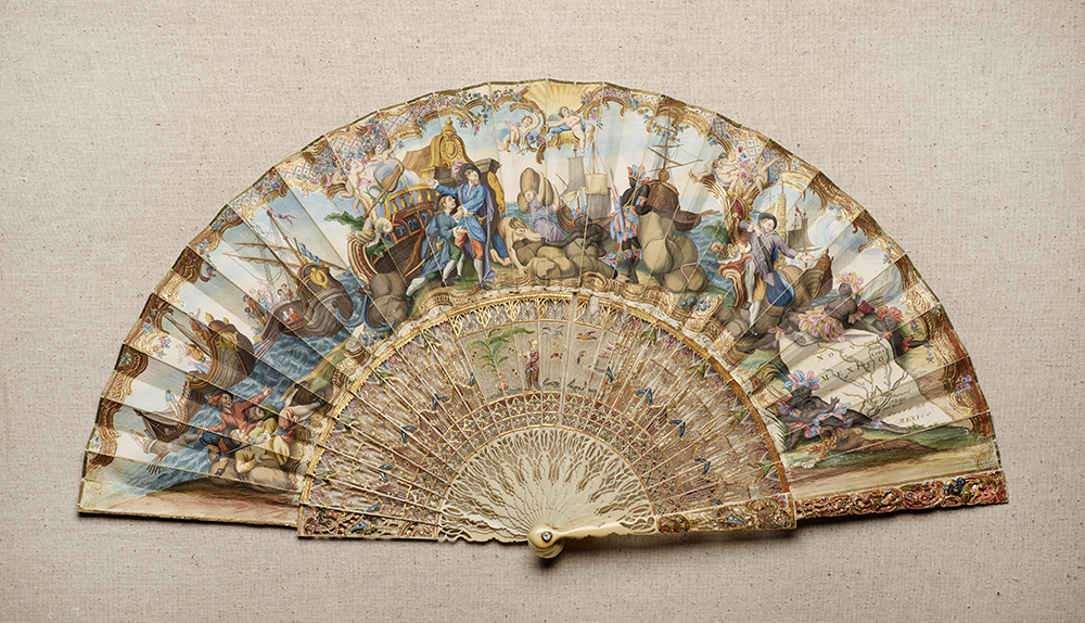 Folding Fan Depicting La Salle's Expedition to Texas