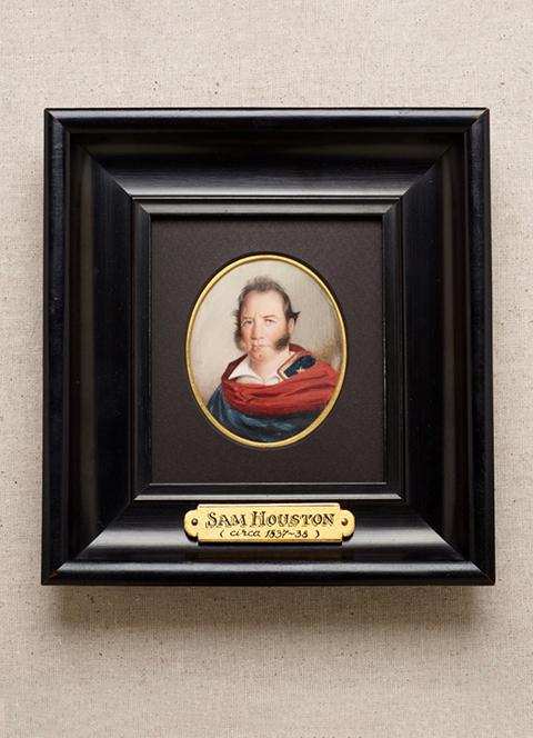 Miniature Portrait of Sam Houston in Uniform
